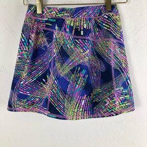 L.L Bean Multicolor Sport Skirt Geometric size 12